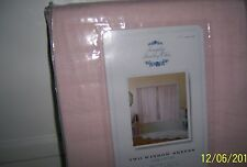 NIP Pr 60x63 Rachel Ashwell Shabby Chic Pink Voile Window Sheers Panel Curtains