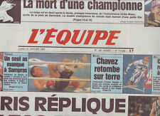 journal  l'equipe 31/01/94 FOOTBALL  CAEN PARIS SG SKI MAIER CRETIER BASKET