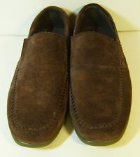 MARC ECKO IMPERIAL HITTA BROWN NUBUCK LEATHER LOAFER SHOE MENS 8.5 / EUR 41.5