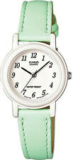 Casio Women's LQ-139L-3B Green Leather Watch