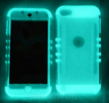 Clear Hard Soft GLOW in Dark Impact Armor Case Cover For iPod Touch 5th 6th Gen
