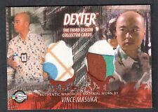 DEXTER SEASON 3 (Breygent) COSTUME CARD #D3 - C21 VINCE MASUKA TWO SHIRTS