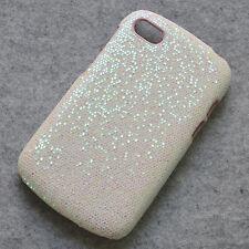 For BlackBerry Q10 White Sparkle Glitter Design hard case cover