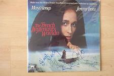 """The French Lieutenant 's woman autographes signed LP-Cover """"Bande Originale"""" vinyle"""