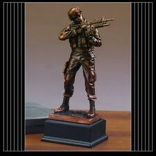 Military Armed Forces ARMY Beautiful Bronze Statue / Sculpture Brand New