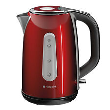 Hotpoint WK 30M DR0 UK Kettle 1.7 Litre Boil Dry Protection Water Indicator Red