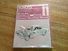 Toyota Carina 1971-1974 1.6 Liter (96.9 cu in) Owners Workshop Manual Haynes New