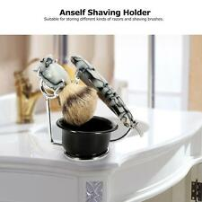 Anself Pro Shaving Holder for Razor Brush Silver Stainless Steel Stand A2X3