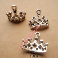 P206 20pcs Tibetan Silver crown Beads Pendant Charm Findings Jewelry accessories