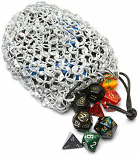 Medieval Chainmail Carry All Medieval Renaissance Pouch Dice Bag