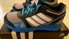 NIB Adidas Boys SIZE 12 HyperFast BLUE GRAY BLACK Athletic Shoes Sneakers #11316