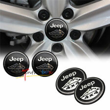 4X Fit Jeep Trail Rated 4x4WHEEL CAPs Alloy EMBLEM Badge Stickers 56.5mm NEW 3D