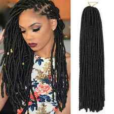 5*30 Sticks Faux Locs Synthetic Crochet Braids Fiber Hair Extensions 15'' Black