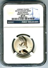 2015 1/4 OZ CANADA $20 SILVER NGC SP70 BUGS BUNNY LOONEY TUNES FIRST RELEASES