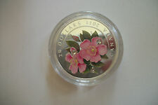 2011 Royal Canadian Mint $20 fine silver Wild Rose coin Canada