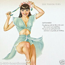 Vintage Original SEXY VARGA GIRL Miss September Calendar Sheet 1948 NOS Unused