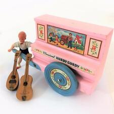 Dollhouse Miniature Vtg Germany Caco Boy Doll Hurdy Gurdy Guitar Mandolin 4 pc