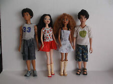 Articulated My Scene Doll & Fashion LOT Girl and Boy with Shoes Clothes
