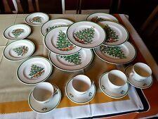 19 piece MYOTT ENGLAND CHRISTMAS TREE SET PLATES COFFEE CUPS and SAUCERS