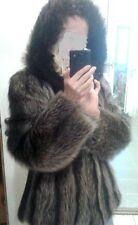 Sale! fur coat raccoon! raccoon fox  jacket fur size 10-12  шуба енот Waschbär