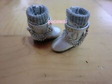 Blythe DAL Pullip Momoko - Chain Boots - Sliver with Grey Top