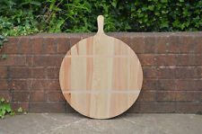 49.5 cm 19.5 in - dough vintage round wooden pizza bread board tray - FREE POST