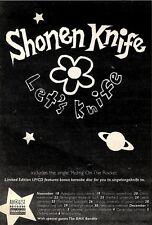 """21/11/92PGN28 SHONEN KNIFE : LET'S KNIFE ADVERT 7X5"""" TOUR DATES"""