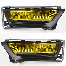 Honda Accord 2013-2015 4dr Sedan Yellow Front Glass Fog Lights Pair w/ wiring