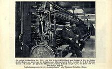Größte Stickmaschine der Welt bei Rappold & Cie. Goßau St.Gallen Aufnahme 1908