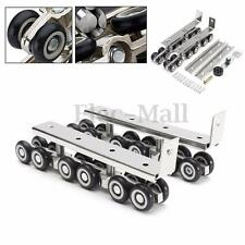 Sliding Wooden Cabinet Door Closet Hardware Kit 12 Mute Wheels Hangers Roller
