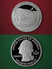 Silver 2014-S Smoky Mountains Proof Gem Deep Cameo Quarter Flat Rate Shipping