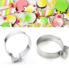 1pcs Stainless Balloon Round Baking Cake Biscuit Cookie Cutter Decoration Mould
