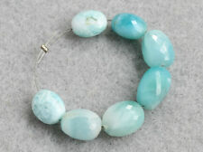 Larimar Dolphin Stone Faceted Oval Nugget Semi Precious Gemstone Beads 007