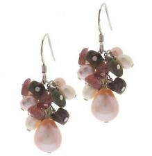 ROSS SIMONS STERLING SILVER TOURMALINE & CULTURED FRESHWATER PEARL EARRINGS QVC