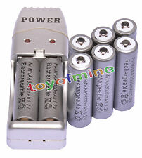 8 X AA 2A 3000mah1.2V NiMH rechargeable batterie Gris +USB Chargeur