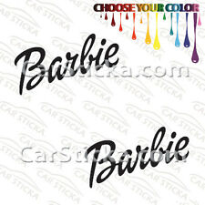 "2 of 8"" Barbie /A car truck window stickers decals"