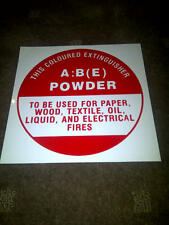 3 x Fire Extinguisher ABE Identification Signs (A:B (E)