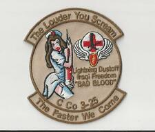 US ARMY AVIATION PATCH - C CO 3-25 BAD BLOOD SEXY NURSE