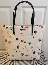 NEW KATE SPADE BON SHOPPER GET CARRIED AWAY HOT AIR BALLOON LARGE TOTE/SHOPPER