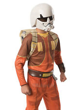 Child Star Wars Rebels Ezra Bridger Fancy Dress 2 Piece Overhead Mask Kids Boys