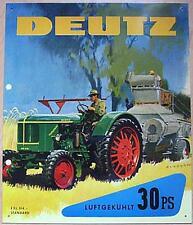 Älteres Blechschild Oldtimer Traktor Deutz Schlepper gebraucht used