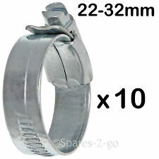 10 x Worm Drive METALLO TUBO FLESSIBILE PINZA giubileo di tipo tubo in acciaio clip piccole 22 - 32 mm