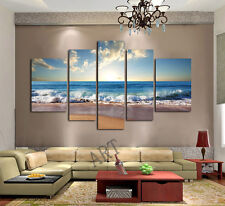 NOT FRAMED Large Canvas Print Home Decor Wall Art Modern Seascape Picture Beach