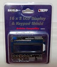 OSEPP 16X2SHD-01 16 x 2 LCD Display & Keypad Arduino Shield - New In Package