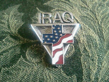 1 U.S.A. IRAQ SOIDIER PEWTER PIN WITH FLAG All New.