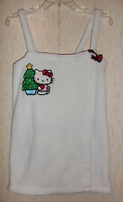 EXCELLENT WOMANS / JUNIORS Hello Kitty WHITE PLUSH COVERUP / ROBE  SIZE S/M