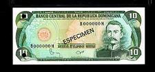"1982 Republica Dominicana $10 Pesos""SPECIMEN"" UNCIRCULATED"