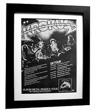 KROKUS+Metal Rendez-Vous+TOUR+POSTER+AD+RARE ORIG 1980+FRAMED+FAST GLOBAL SHIP