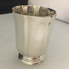 STUNNING Antique c1870 French Sterling Silver TULIP Drinking Cup / Goblet -L559