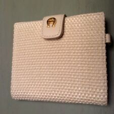 Etienne Aigner Women Ladies Bi-fold Wallet Cream/Ivory Accent ID Photo